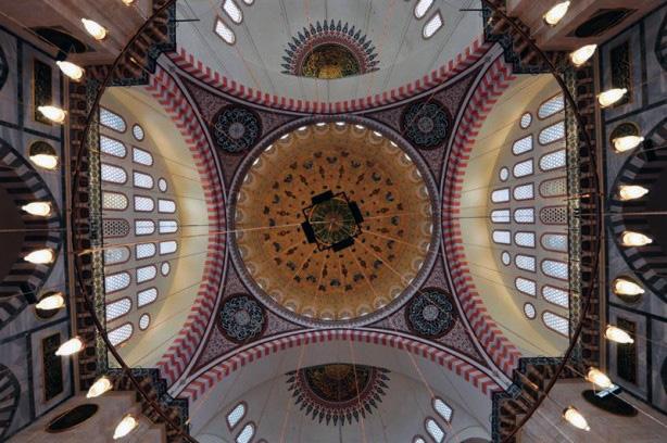 Süleymaniye camii içi ve dini semboller